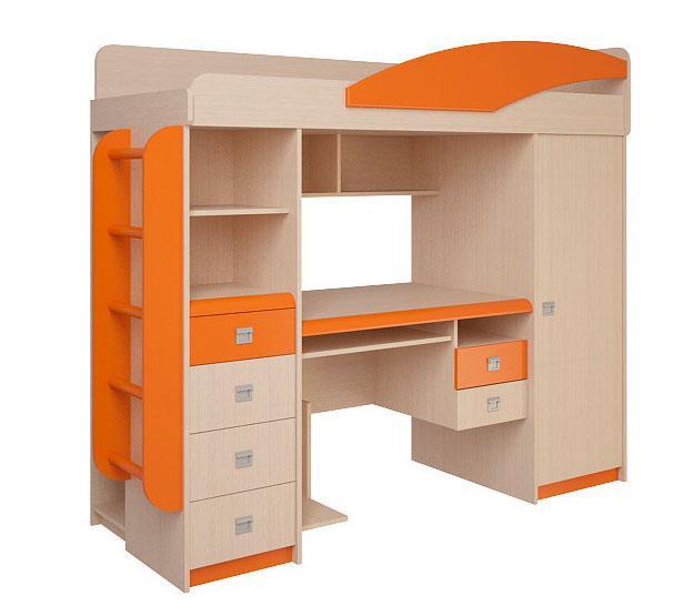 Набор мебели Корвет ЖК 4.1.1Л (оранжевый)