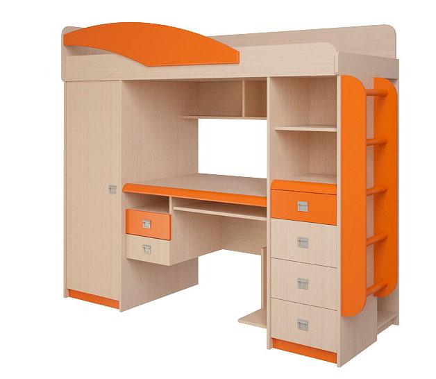 Набор мебели Корвет ЖК 4.1.1П (оранжевый)