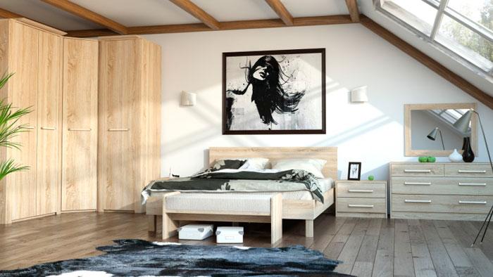Набор мебели для спальни МК 44 ель Корвет, комплектация 2