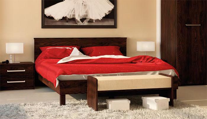 Кровать 18 (160) МК 44 дуб Корвет