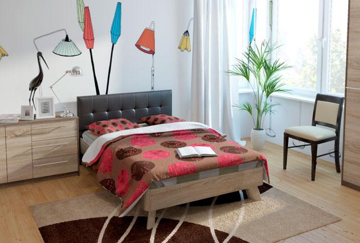 Кровать 17 (120) спинка мягкая СМ №13 Корвет МДК 4.11