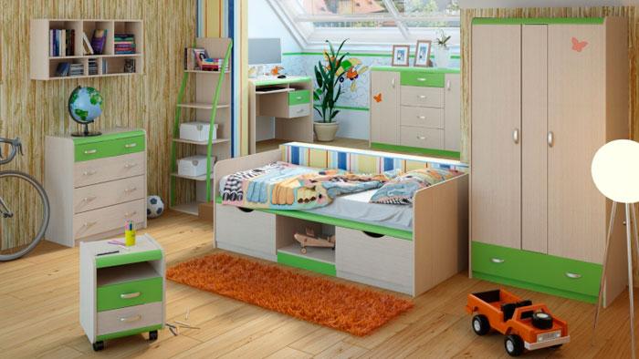 Набор мебели для детской Корвет ЖК 4.5М, комплектация 3