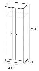 Шкаф-штанга Сенатор 30 (2+2) Лавр