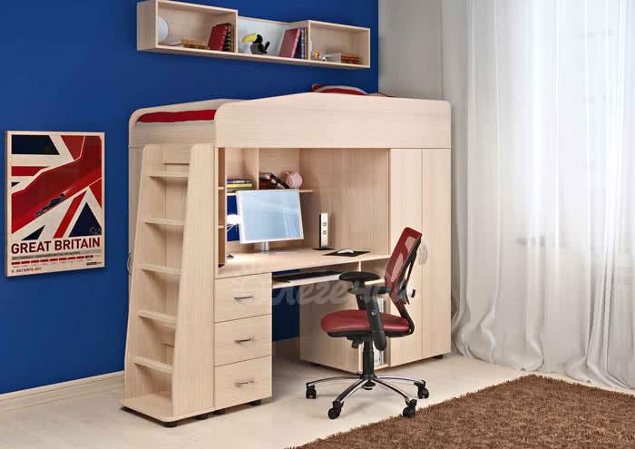 Кровать-чердак Легенда 1 (комплект мебели)