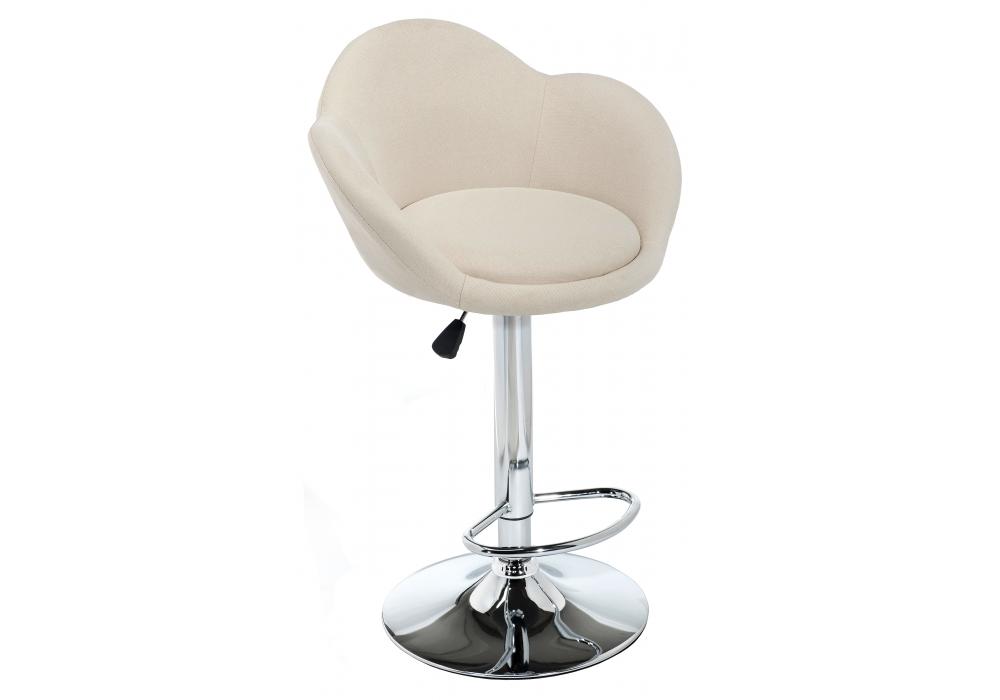 Барный стул Woodville Cotton beige fabric
