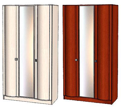 Шкаф 3х дверный Линаура Соната