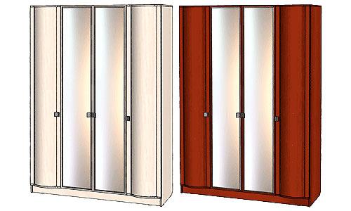 Шкаф 4х дверный Линаура Соната