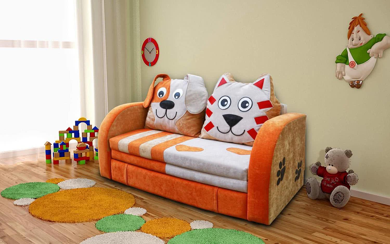 Детский диванчик М-Стиль Кот и Пес