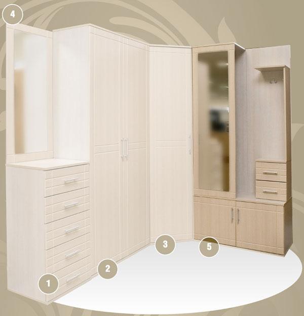 Шкаф с вешалкой, прихожая № 19