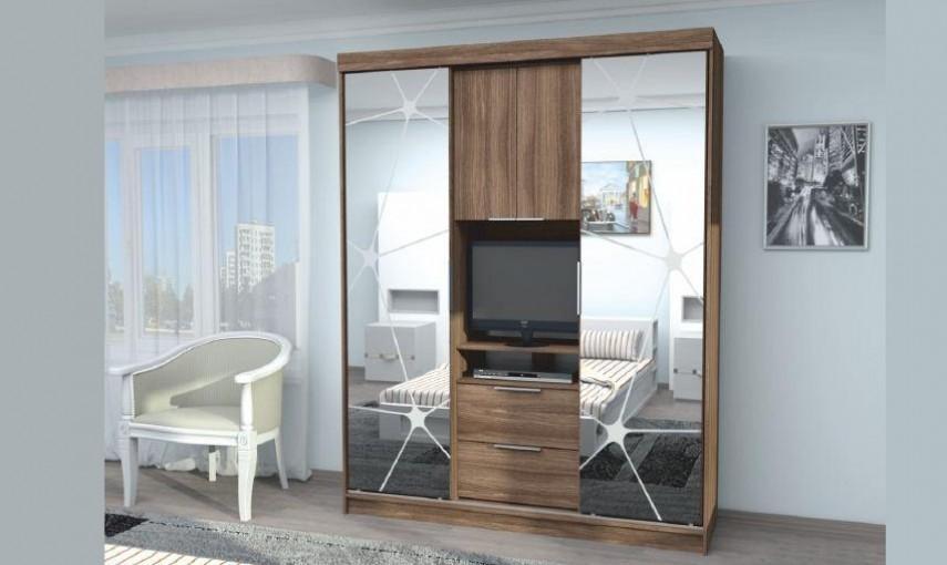 Шкаф-купе Стиль Комфорт 11 с зеркалами