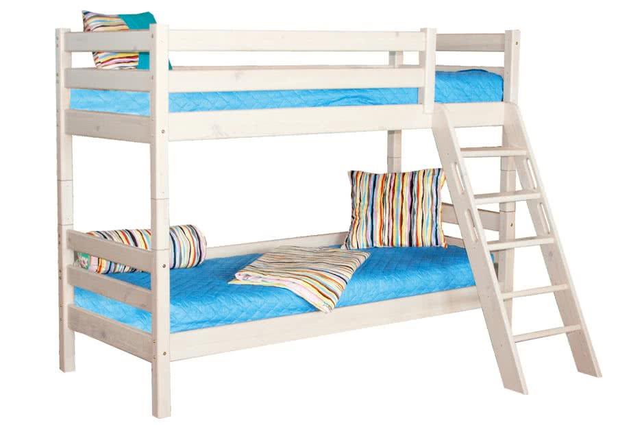 кровать мебельград соня 2х ярусная с наклонной лестницей вариант 10