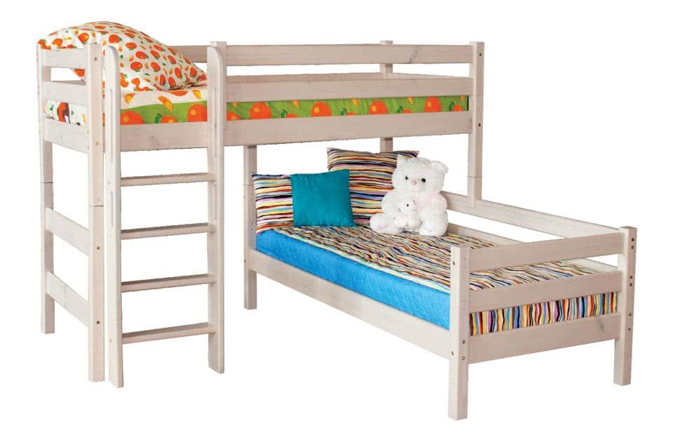 кровать мебельград соня угловая с прямой лестницей вариант 7