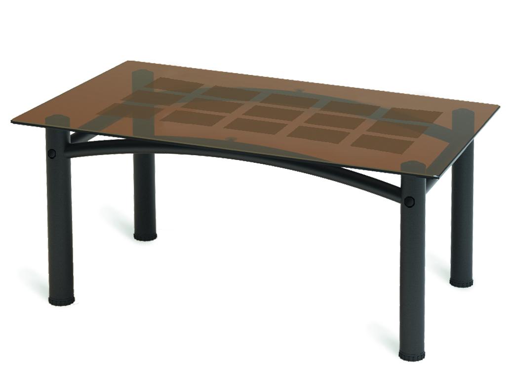 Стол журнальный Мебелик Робер 3М черный