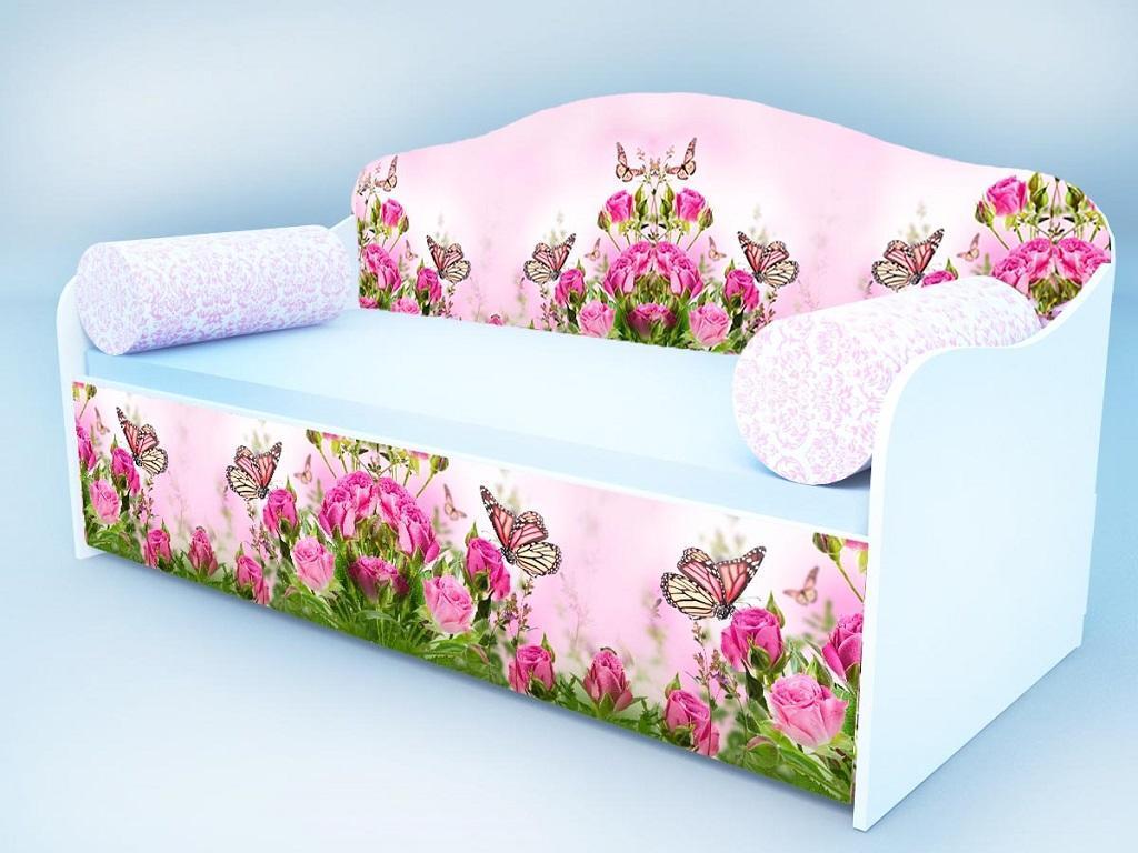 Диван - кровать Кроватка5 Бабочка в розах
