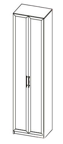 Шкаф 2х дверный для одежды МегаЭлатон Неаполь, Н-1