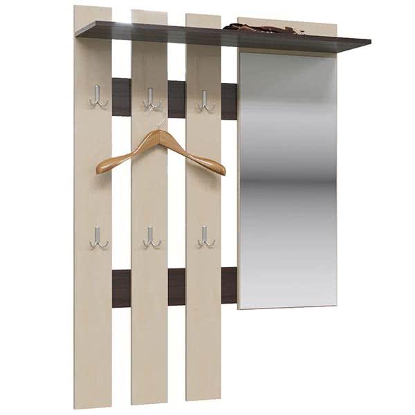 Вешалка с зеркалом Гранд Кволити Лира ГК 2-3814 венге/берёза(вяз светлый)