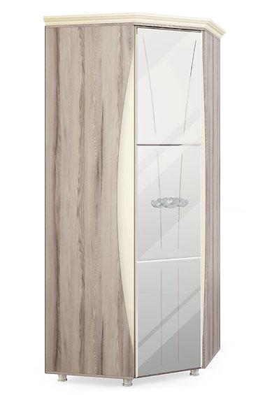Шкаф угловой с зеркалом и карнизом Натали МСТ, мод.14
