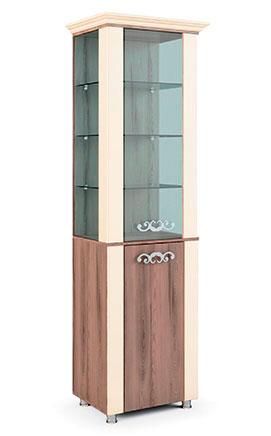Шкаф-витрина с карнизом Натали МСТ, мод.8