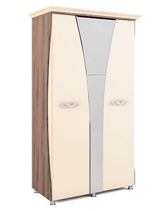 Шкаф двухдверный с карнизом Натали МСТ, мод.9