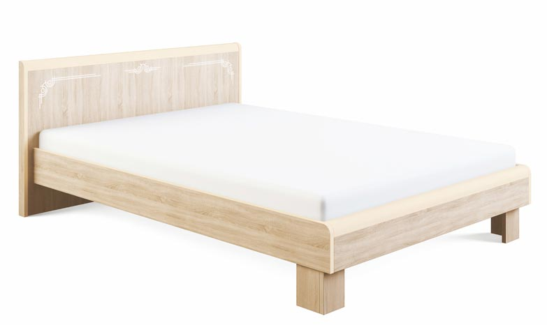 Кровать МСТ Оливия МДФ (180), мод. 1.3