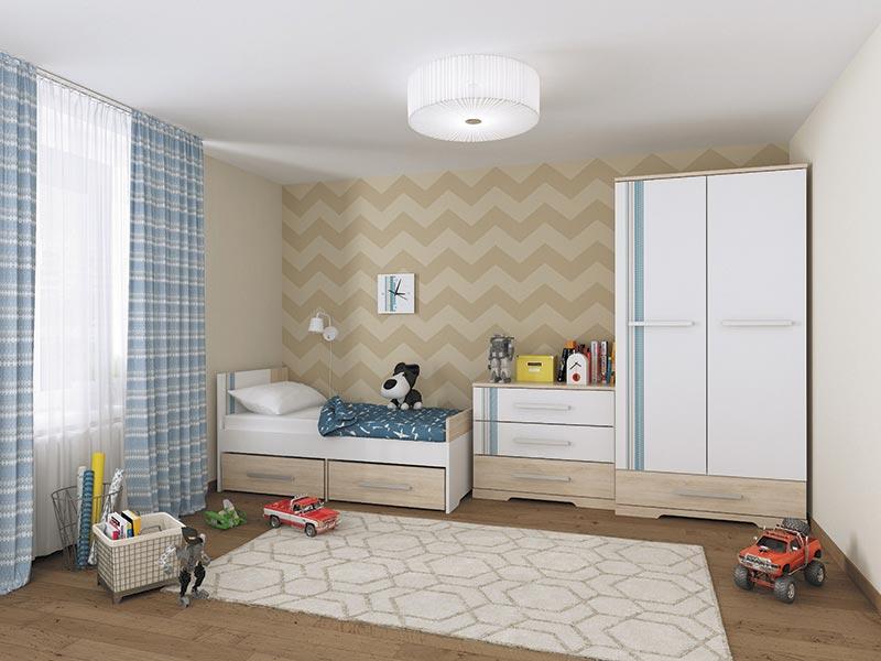 Набор мебели для детской МСТ Лион, комплектация 1
