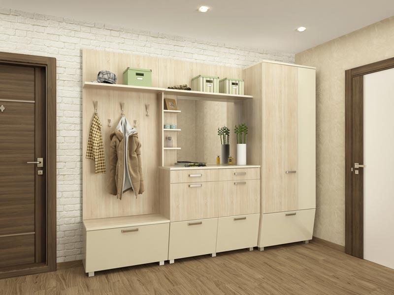 Набор мебели для прихожей МСТ Оливия, комплектация 1