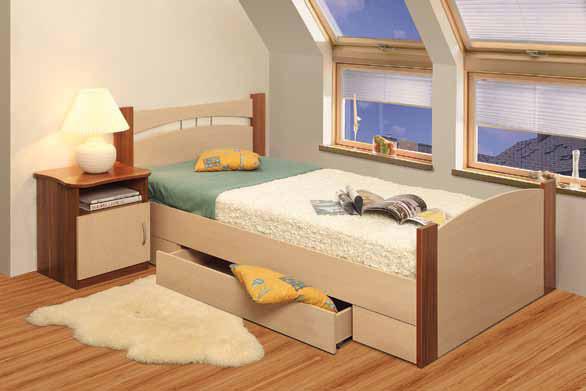 Кровать с ящиком 1600 Олимп-Мебель