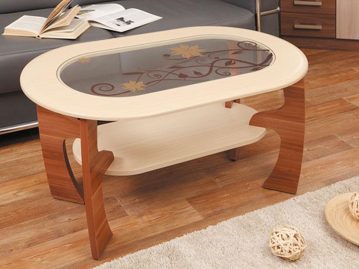 Стол журнальный Маджеста-2 с рисунком Олимп-Мебель