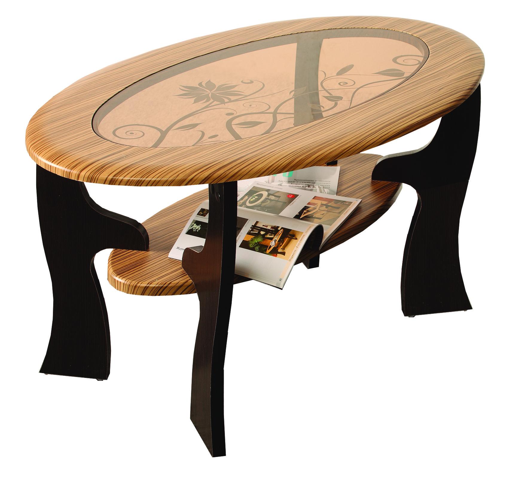 Журнальный стол Маджеста-4 с пескоструем Олимп-Мебель