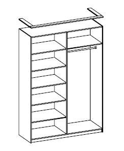 Шкаф для одежды четырехдверный Розалия Олимп-мебель, 06.38