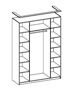 Шкаф для одежды четырехдверный Розалия Олимп-мебель, 06.39