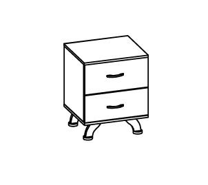 Тумба прикроватная Розалия Олимп-мебель , 06.41