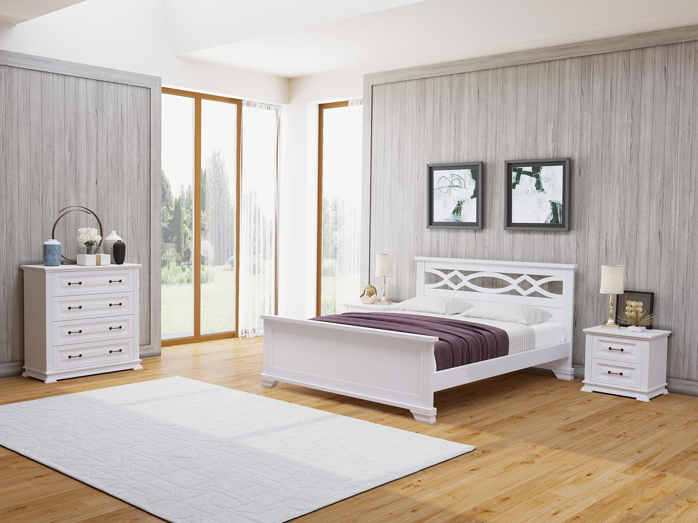 Кровать Райтон Лира М сосна (белый, слоновая кость)