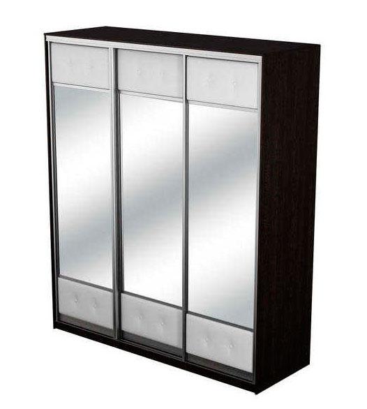 Шкаф-купе 3х дверный Неро/Сезия с тремя зеркалами