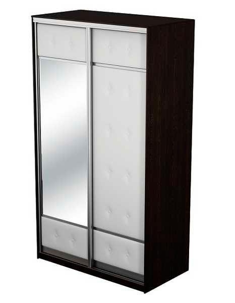 Шкаф-купе 2х дверный Неро/Сезия с одним зеркалом
