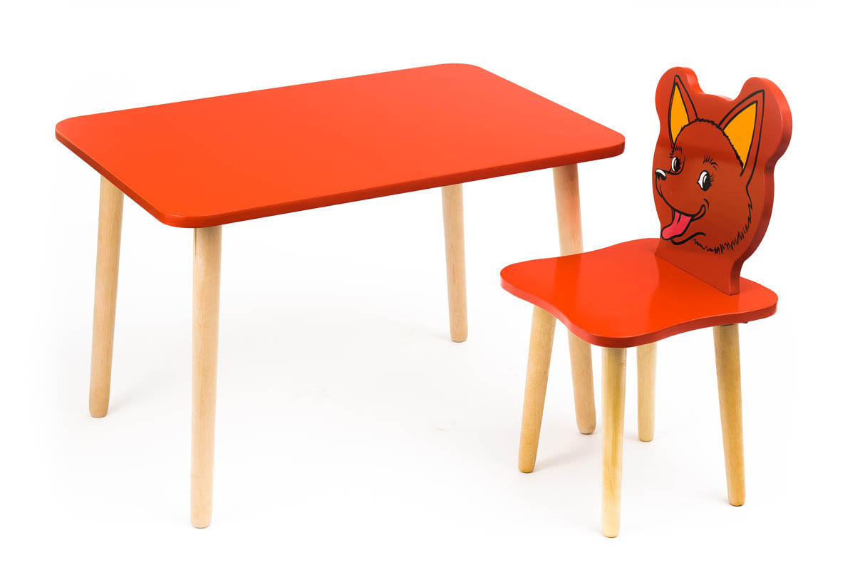 комплект детской мебели Polli Tolli джери с красным столиком