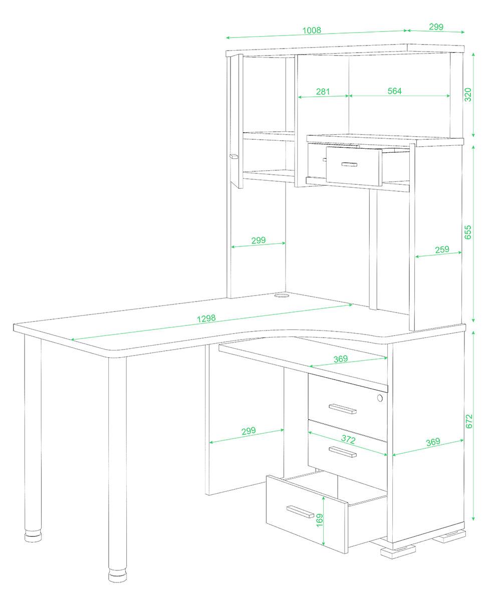 Схема для сборки компьютерных столов