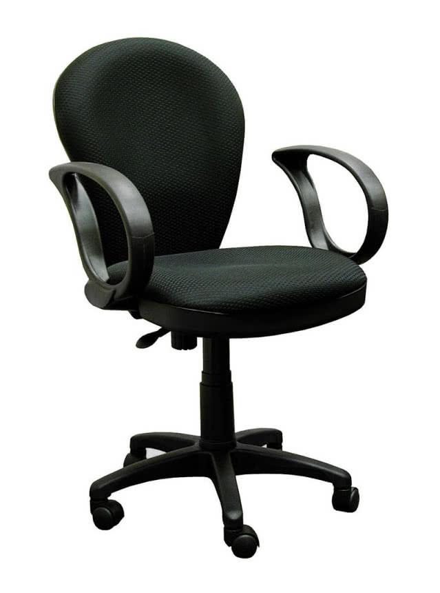 Кресло офисное COLLEGE HLC-0601 Бежевый экокожа 120 кг подлокотники черный пластик/кожа крестовина черный пластик (ШxГxВ) см 62x70x108-118 Кресл