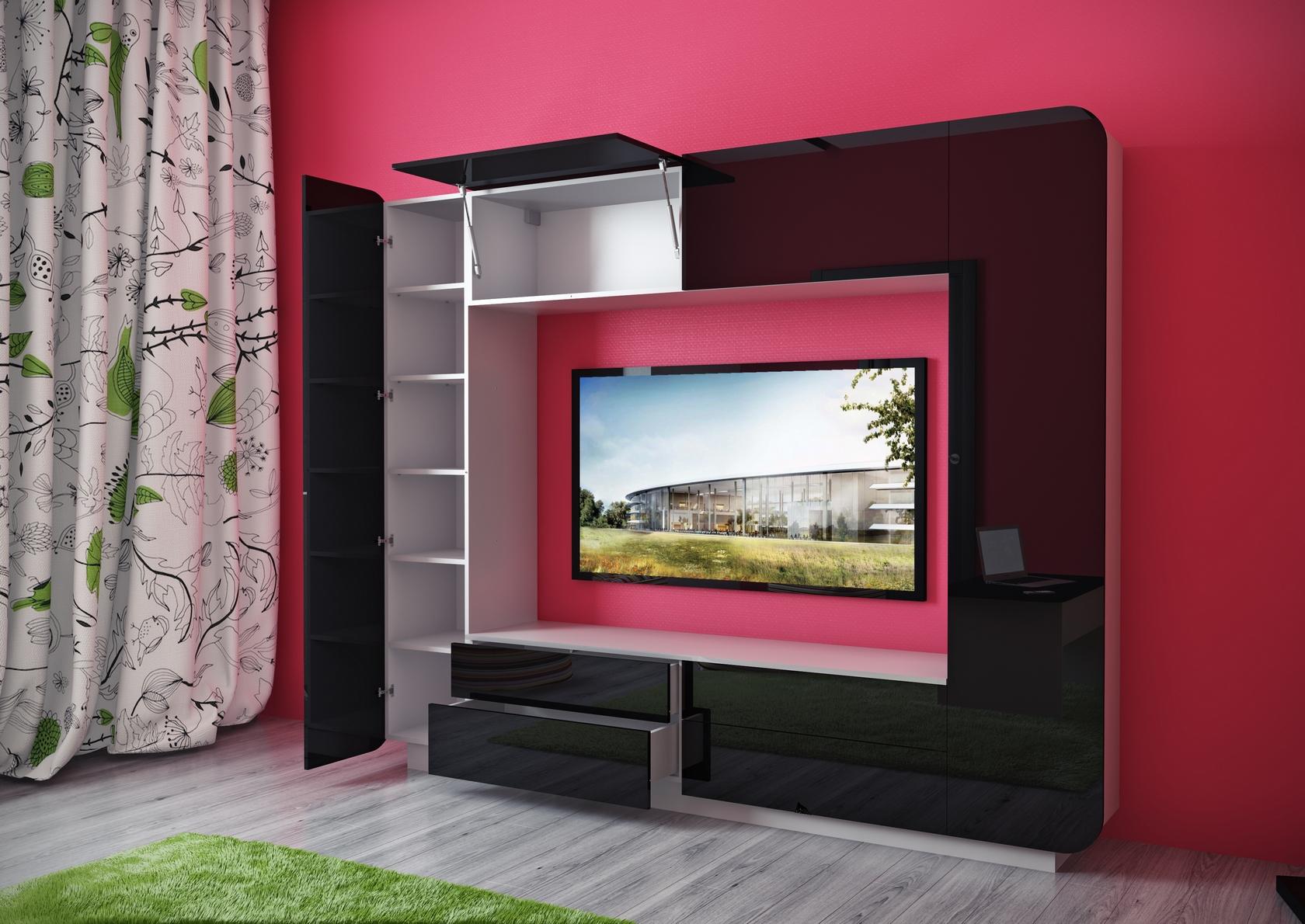 Модные стенки под телевизор