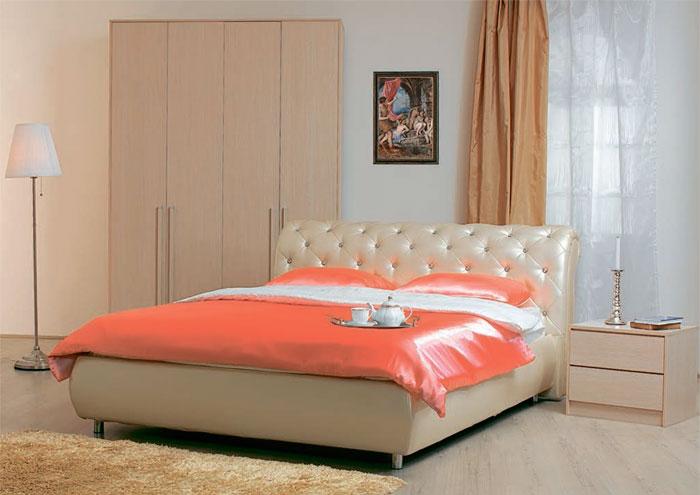 Кровать Сильва Эмили пуговицы с подъемным механизмом (санни)