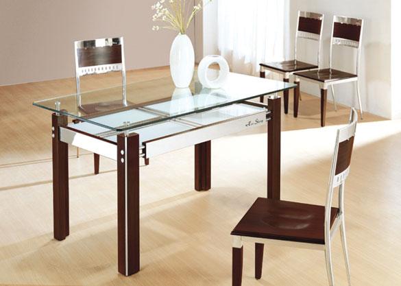 Стеклянный кухонный стол
