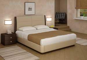 Кровать Торис Атриа L1 (Лило) кожа