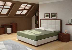 Кровать Торис Атриа L2 (Виваре) кожа