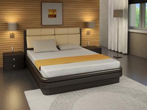 Кровать Торис Эва S1 (Сонеро) экокожа