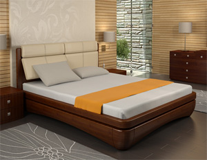 Кровать Торис Иона R1 (Сонеро) кожа