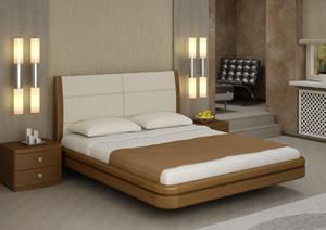 Кровать Торис Ита L1 (Лило) кожа