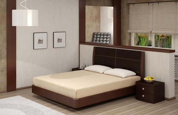 Кровать Торис Мати L1 (Лило) кожа
