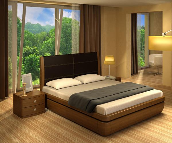 Кровать Торис Тау 1 E1 (Лило) экокожа