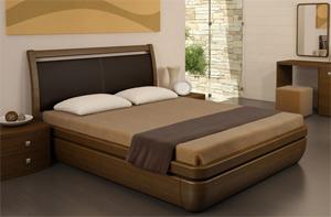 Кровать Торис Тау 1 L11 (Стино) кожа