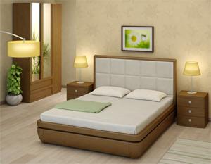 Кровать ТорисТау-классик E2 (Виваре) экокожа